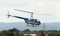 G-ILET @ EGBJ - R44 Raven noted at Gloucestershire Airport  UK in Sept 2008