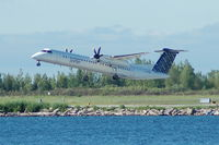 C-GLQE @ CYTZ - Porter Airlines - Taking Off - by David Burrell