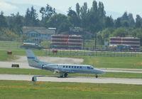 N60NF @ CYVR - Cessna 560 - by David Burrell