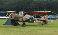 G-BKVK @ EGBP - This Auster wears Serial WZ662 - on display at Kemble 2008 - Saturday - Battle of Britain Open Day