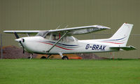 G-BRAK @ EGBP - Cessna 172N on display at Kemble 2008 - Saturday - Battle of Britain Open Day