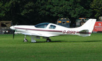 G-BSRI @ EGBP - 1992 Lancair 235 on display at Kemble 2008 - Saturday - Battle of Britain Open Day