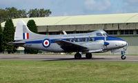 G-DHDV @ EGBP - 1954 Dove still in service giving pleasure flights at Kemble 2008 - Saturday - Battle of Britain Open Day
