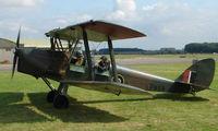 G-BLUZ @ EGBP - 1944 De Havilland DH82B Queen Bee on display at Kemble 2008 - Saturday - Battle of Britain Open Day