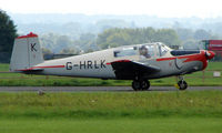 G-HRLK @ EGBP - 1959 Saab 91D Safir on display at Kemble 2008 - Saturday - Battle of Britain Open Day