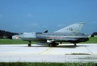 16 @ LOWK - This Draken participated in the Klagenfurt air show in 1998. Here seen prior to departure. - by Joop de Groot