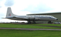 XM496 @ EGBP - This Bristol Britannia aircraft was the last of its type to fly (in 1997) - now restored to its former Royal Air Force livery at Kemble UK