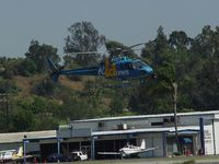 N315TV @ POC - News crew landing at Brackett - by Helicopterfriend