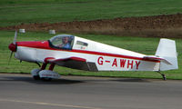 G-AWHY @ EGBT - Falconar F-11-3 - A visitor to the 2008 Turweston Vintage and Classic Day