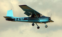 G-ATEF @ EGBT - 1965 Cessna 150E - A visitor to the 2008 Turweston Vintage and Classic Day