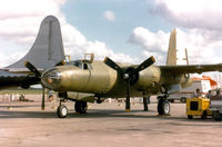 N5546N @ HRL - CAF B-26 Carolyn under restoration at Harlingen