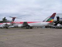 PR-ONB @ SBPA - B-767-300 awaiting maintenance at VEM, Porto Alegre, Brazil - by John J. Boling
