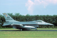 80-0474 @ EHLW - This Nellis based F-16 is one of the most exotic visitors I ever recorded at Leeuwarden. It came in just for a lunch stop. In 1989 474 TFW was deactivated. - by Joop de Groot