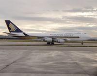 9V-SPB @ LEMD - Boeing 747-412 - by JBND31