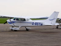 G-BSTM @ EGSU - Previous ID: N4243Q - by chris hall