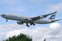 B-HXO @ EGLL - Cathay Pacific Airbus A340-300 - by Thomas Ramgraber-VAP