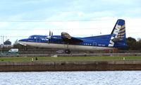 OO-VLY @ EGLC - VLM Fokker 50 in standard scheme at London City