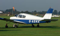G-ASHX @ EGCB - Piper Pa-28-140 photographed at Manchester Barton Open Day in Sept 2008