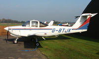 G-BTJK @ EGCB - Piper Pa-38-112 photographed at Manchester Barton Open Day in Sept 2008