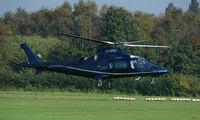 G-WRBI @ EGCB - Agusta A109E photographed at Manchester Barton Open Day in Sept 2008