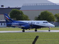 G-MAJP @ EGNR - Eastern Airways, just arriving at Hawarden - by chris hall