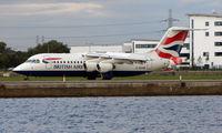 G-BZAV @ EGLC - British Airways Bae146 at London City