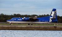 OO-VLT @ EGLC - VLM Fokker 50 at London City
