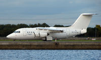 SE-DJX @ EGLC - SAS Bae 146 operated by Transwede into London City