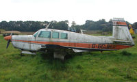 G-BCJH - 1966 Mooney M20F at a quiet Cambridgeshire  airfield