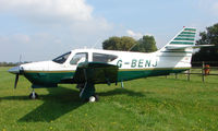 G-BENJ - 1976 Rockwell 112B at a quiet Cambridgeshire  airfield