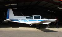 G-PING - 1979 Grumman AA-5A at a quiet Cambridgeshire  airfield