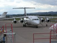 D-AEWN @ EGTE - BAe 146 at Exeter - by Simon Palmer