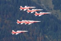 J-3082 @ AXALP - After their rehearsal show the Patrouille Suise made a final pass over the Brienzer See. Unfortunately the actual show on the 8th and 9th of October was canceled due to fog and clouds.