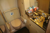 9H-AFK @ KORL - Bathroom of Comlux Aviation A319