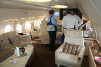 9H-AFK @ KORL - Interior of Comlux Aviation A319 at NBAA