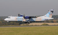 EI-REO @ EGGW - Aer Arann ATR -72-500 - by Paul Ashby