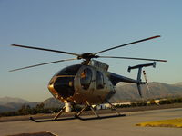 N108PP @ POC - Waiting during 100 hr inspection at Brackett PPD Pad - by Helicopterfriend