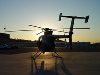 N108PP @ POC - Looking into the sun at Brackett - by Helicopterfriend