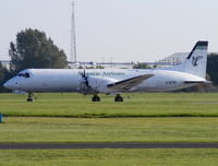 G-BTPF @ EGBE - ATLANTIC AIRLINES - by chris hall