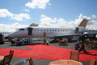N234GX @ ORL - Bombardier Global Express at NBAA in Bombardier display