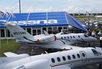 N525NG @ ORL - Cessna 525C CJ4 at NBAA in Cessna Display