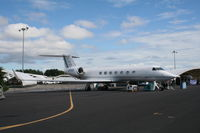 N550GD @ ORL - Gulfstream G550 at Gulfstream display at NBAA