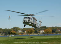 162129 @ U.S. NAVAL - SH-60B 162129 lift off at U.S. Naval Academy 10-19-08 - by J.G. Handelman