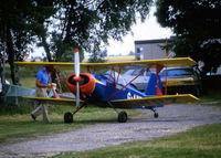 G-AWPZ @ EGHL - I NEARLY MISSED THIS AS IT WAS TUCKED UP IN THE TREES - by BIKE PILOT