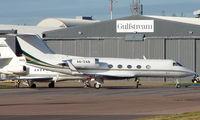 A6-ZAB @ EGGW - Gulfstream G1159A at Luton - by Terry Fletcher