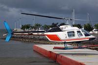 VH-JMN - Cairns Harbour heliport at the Shang-ri-la hotel