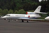 N573TR @ ADQ - Dassault-breguet FALCON 50 serial 217, on the ramp at Kodiak, Alaska - by Timothy Aanerud