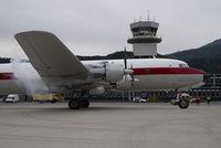 G-APSA @ LOWI - British Eagle DC6