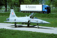 J-3006 @ LSMJ - Turtmann was an airfield with a strange lay out with a public road between the runway and the taxiway. Note there is no fence between the aircraft and the truck. The runway can be seen in the background. Unfortunately Turtmann was closed in 2003.