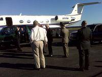 N747NB @ KPBF - Bill Clinton and his entourage plus secret service... - by Larry Tipton